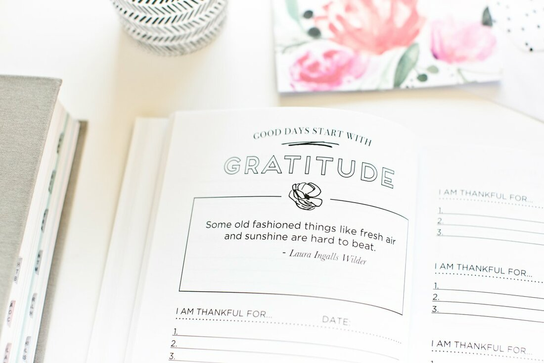 Gratitude Journal inside
