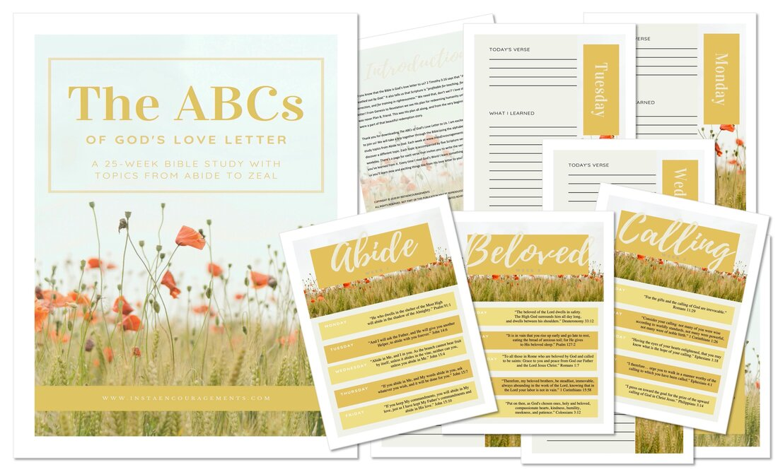 The ABCs of God's Love Letter layout