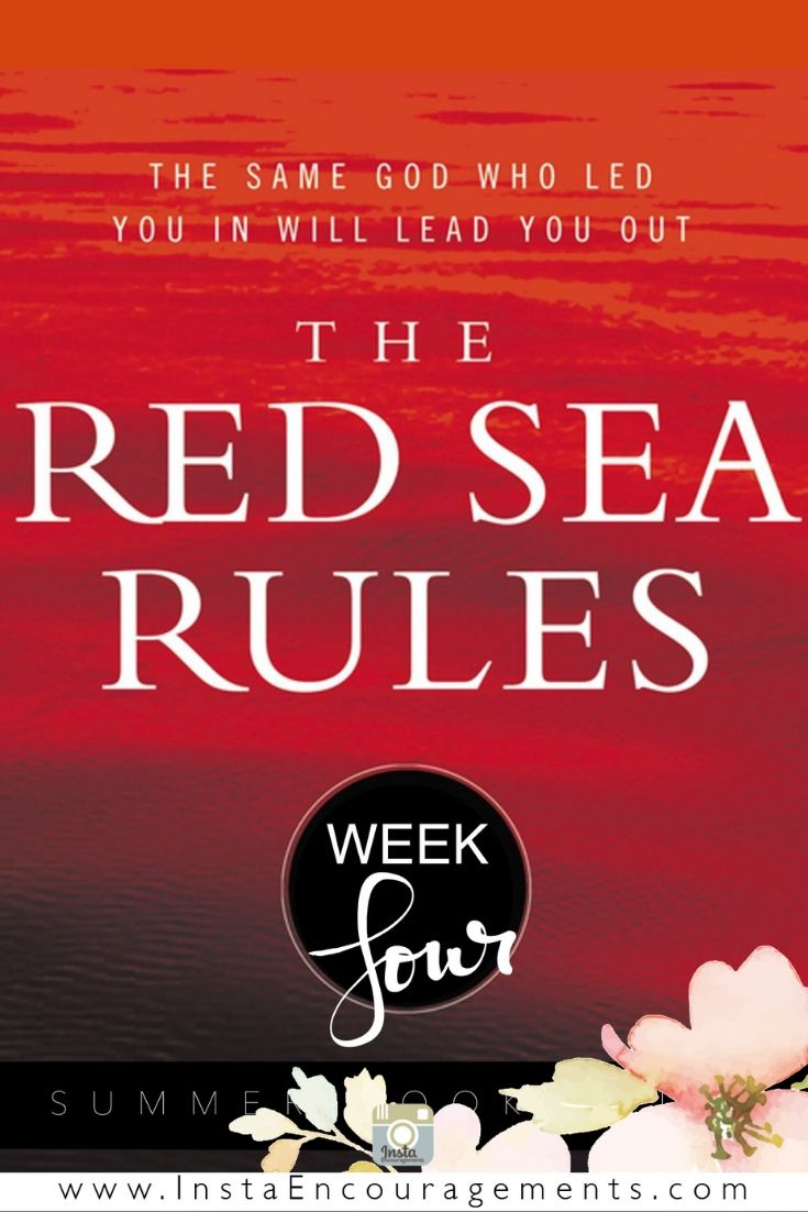The Red Sea Rules Week 4: How do you trust God with difficulties that are so overwhelming? I'm grateful that Robert Morgan breaks faith down into distinct steps that can help us walk with God one day at a time through all of life's challenges.