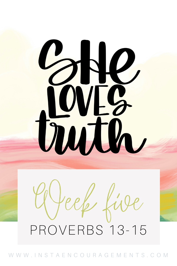 ​She Loves Truth Week Five Proverbs 13-15