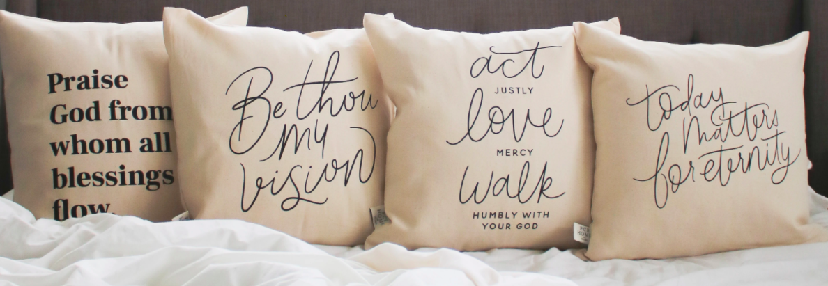 The Daily Grace Co. pillow banner