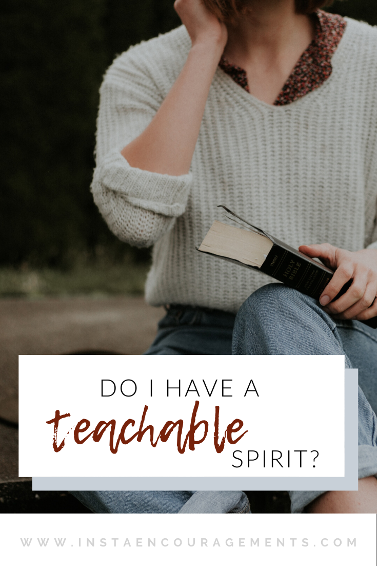 Do I have a Teachable Spirit?
